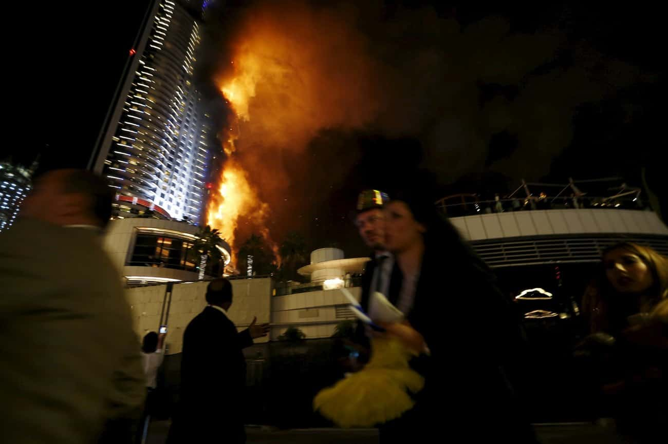 Investigators Confirms Cause of Dubai Address Downtown Hotel Tower Fire on New Year's Eve