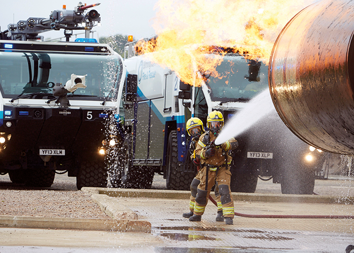 Hainsworth TITAN 1260 fabric is tested to the limit in this airport emergency scenario.