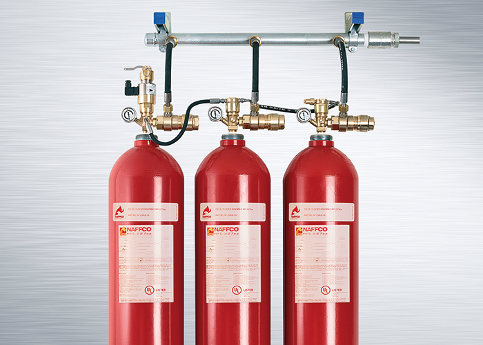 NAFFCO Inert fire suppression system: four gases, one system, all UL listed.