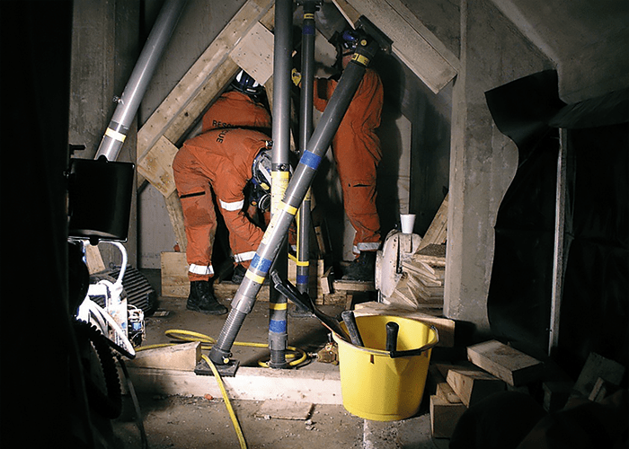 Confined space training scenario.