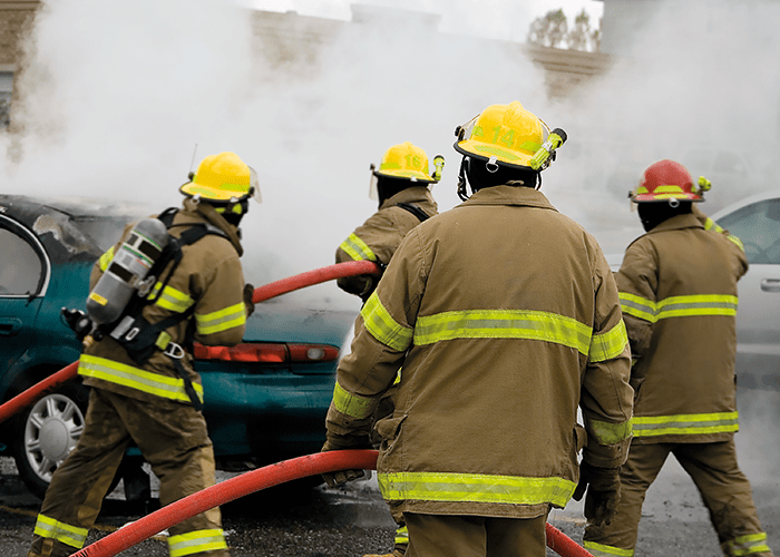 A firefighter's energy usage increases by up to 15 percent when wearing fire kit.
