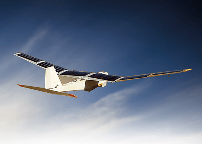 Applying solar to existing platforms, such as the AV Puma UAV below, could assist in the early detection of wildfires.