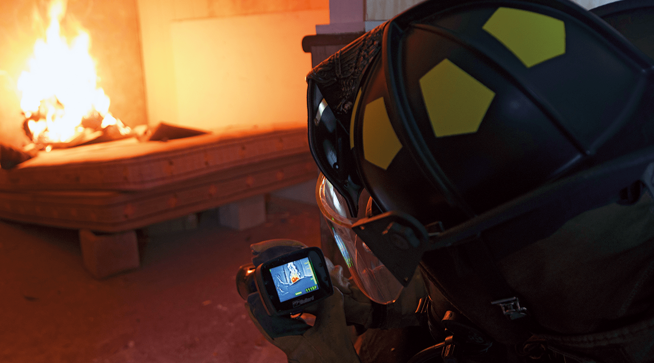 Thermal imagers help firefighters safely maneuver through buildings.