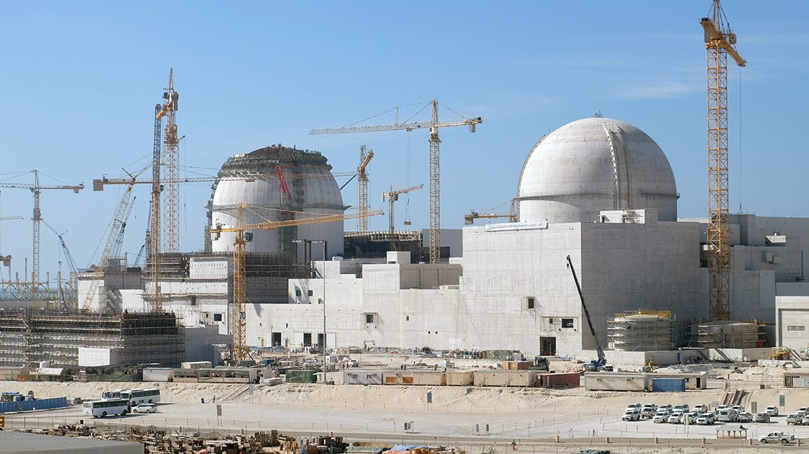 Construction of UAE's first nuclear power plant at the Barakah site. (Photo: L. Potterton, IAEA)