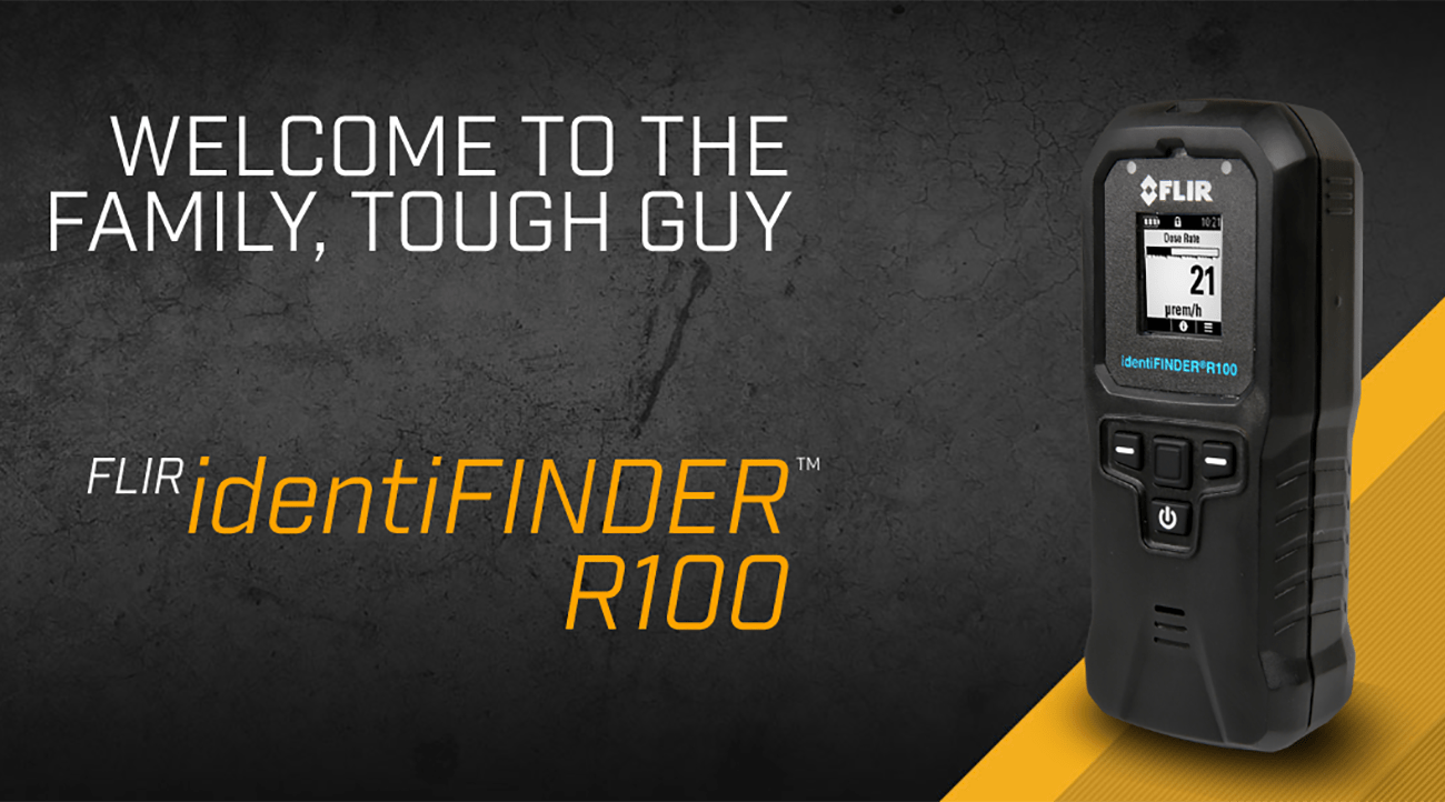 FLIR Announces identiFINDER R100 Personal Radiation Detector with Integrated Bluetooth Smart Technology