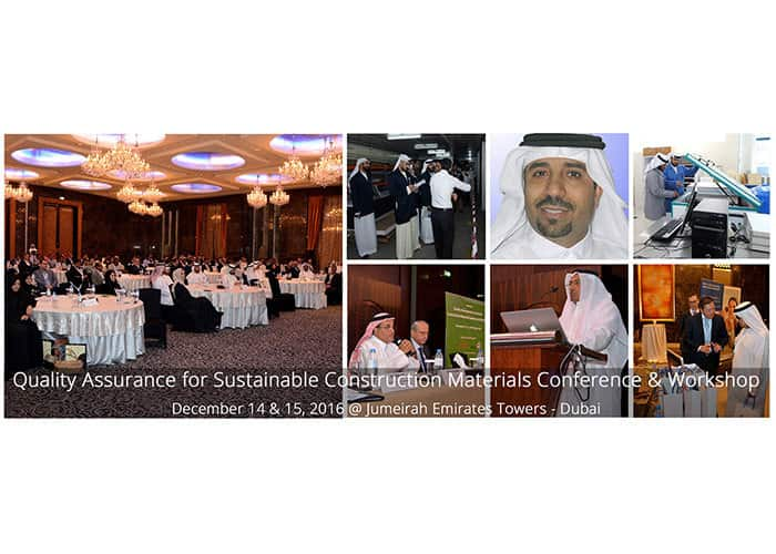 Quality Assurance for Sustainable Construction Materials Conference & Workshop