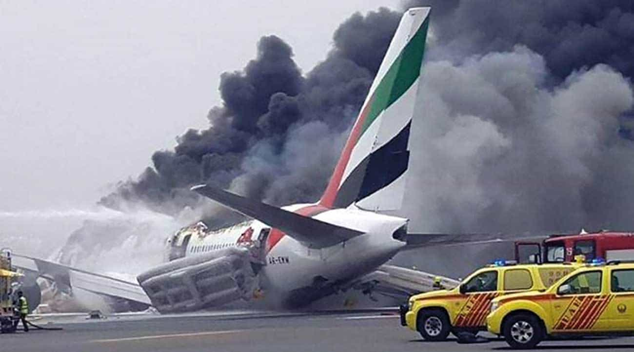 Emirates flight # 521 crashed on landing, all 300 passengers and crew survived but 1 ARFF was killed by an explosion during the firefighting efforts.