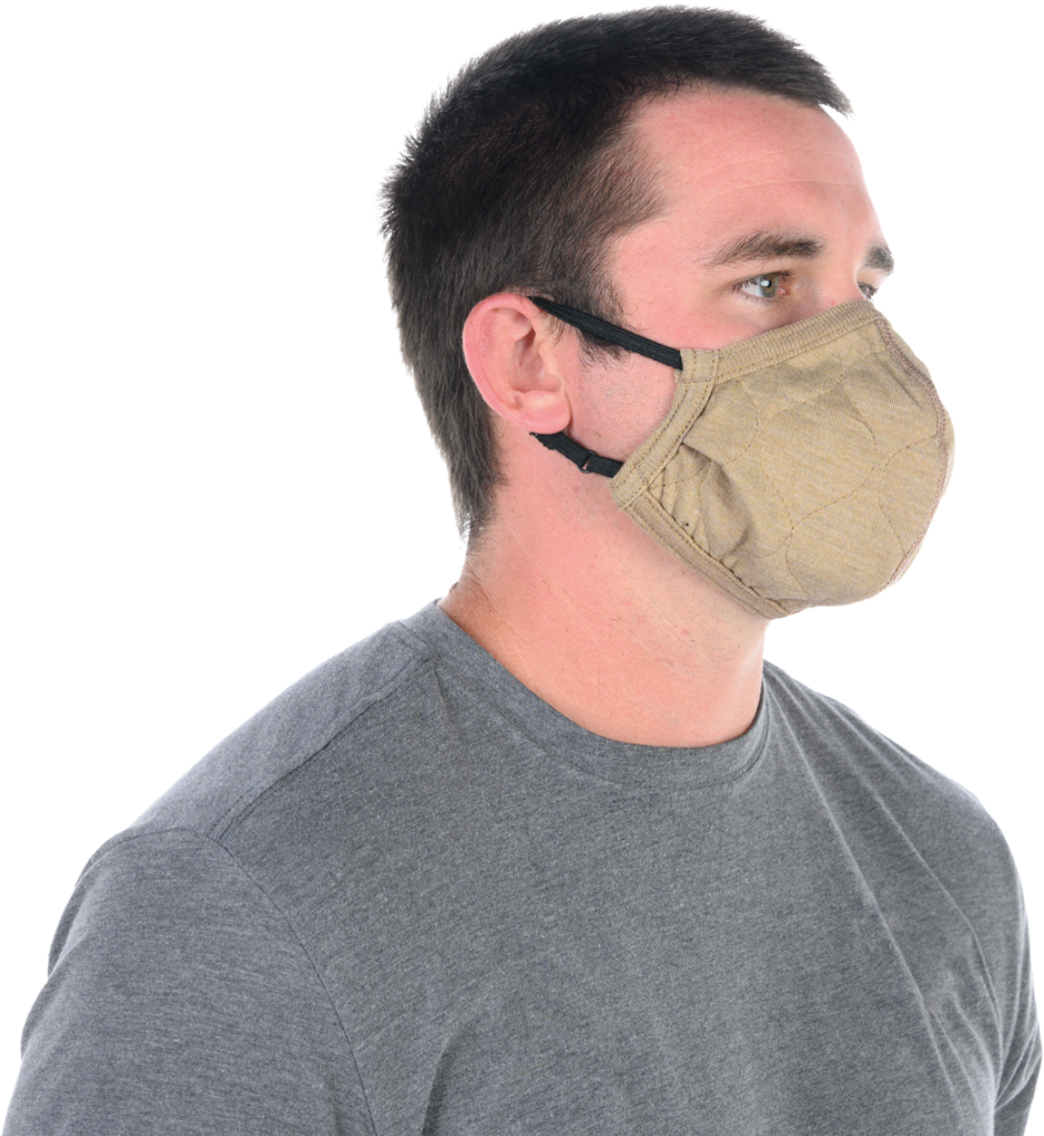 BarriAire Gold Face Mask.