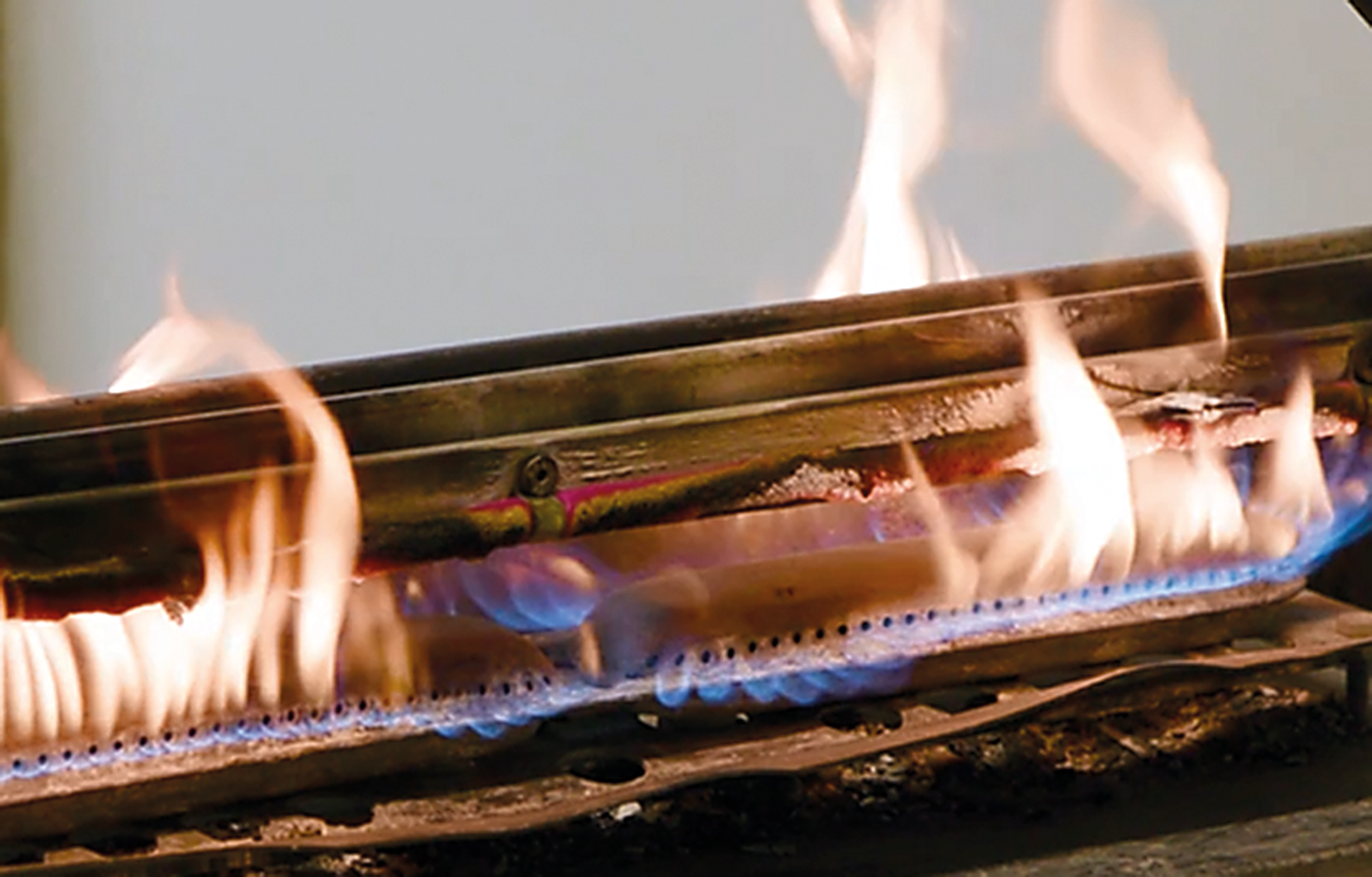 """Polymeric """"fire-resistant cable"""" under fire test at Wrexham Mineral Cables."""