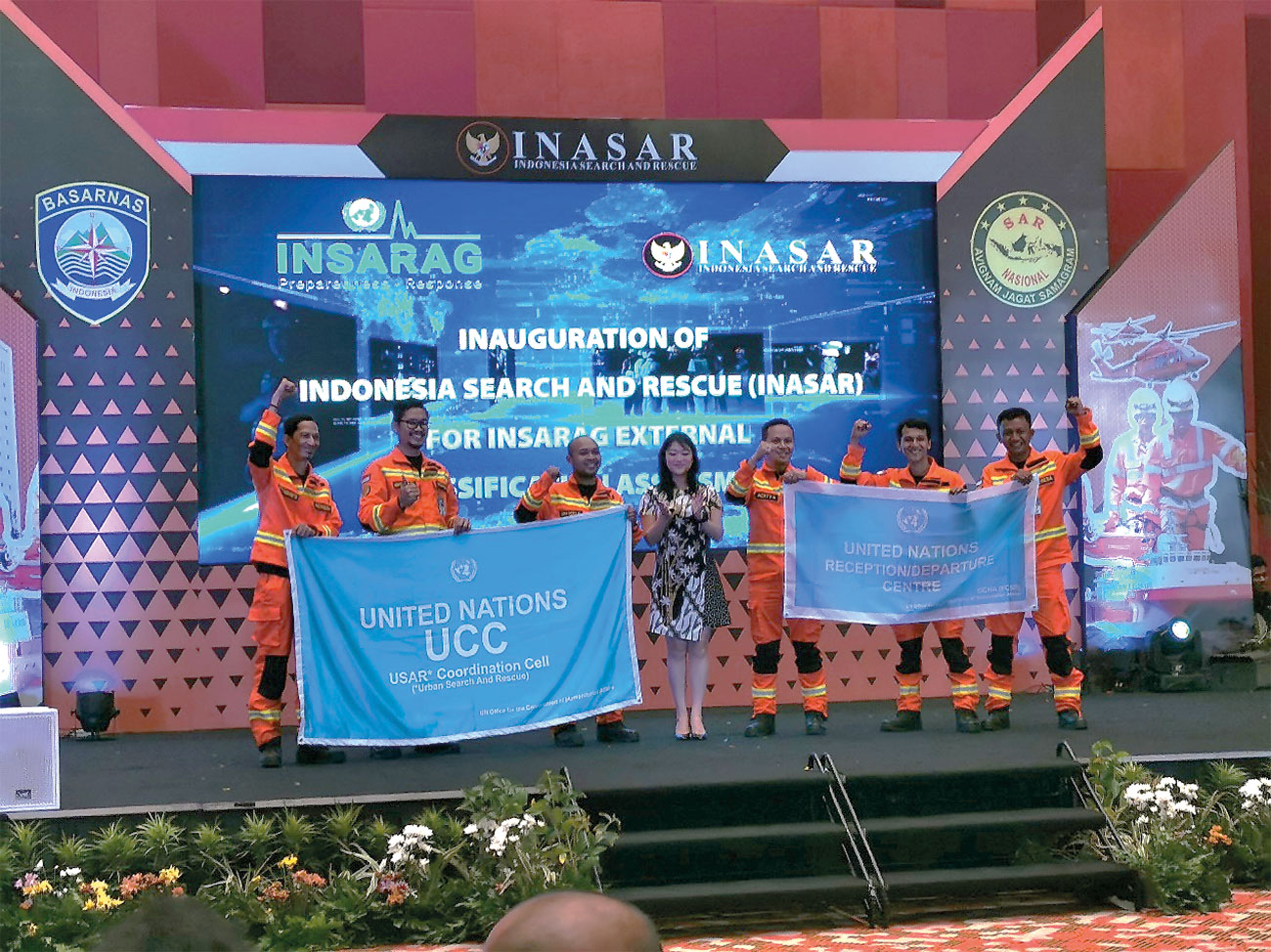 The presentation ceremony of INA-1 after their successful classification.