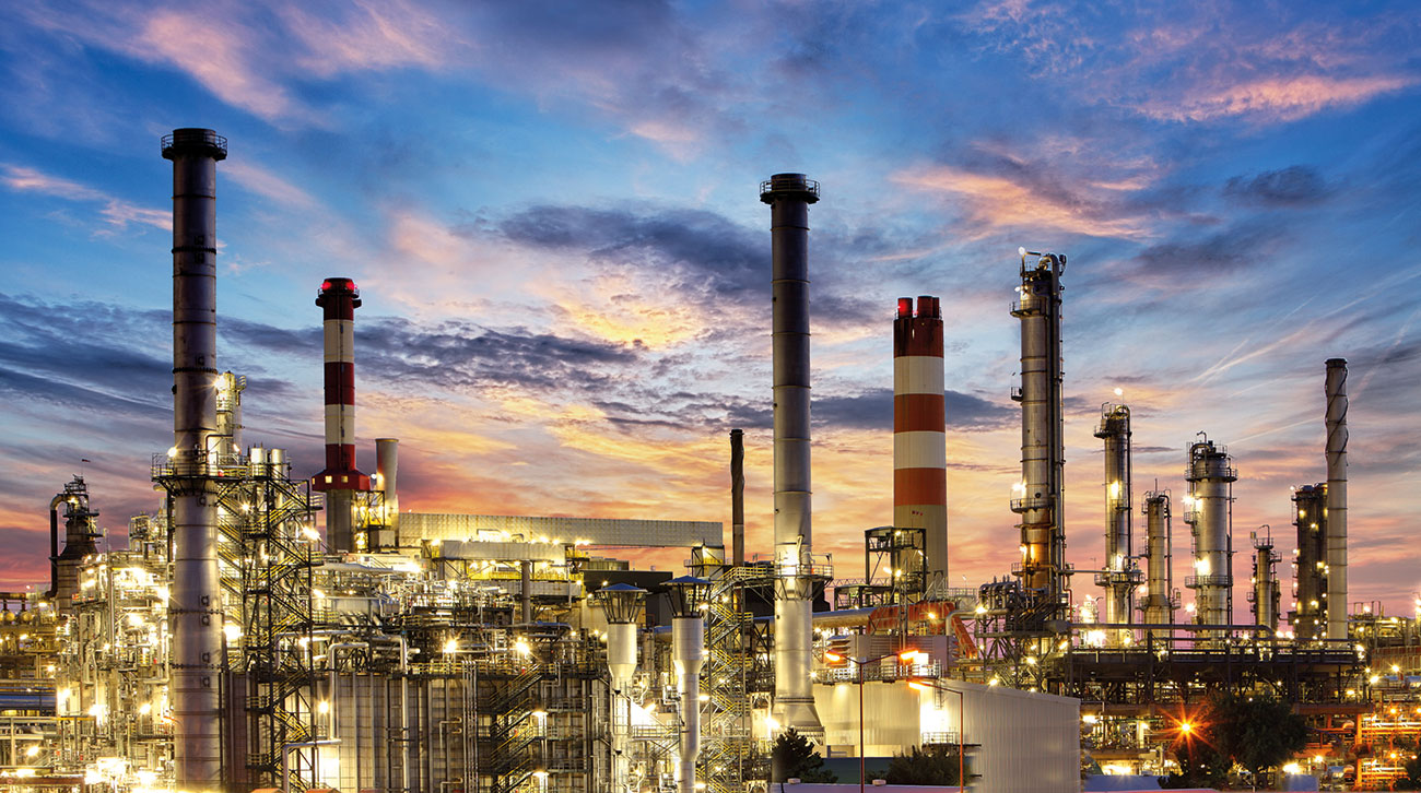 Petrochemical processing plant.