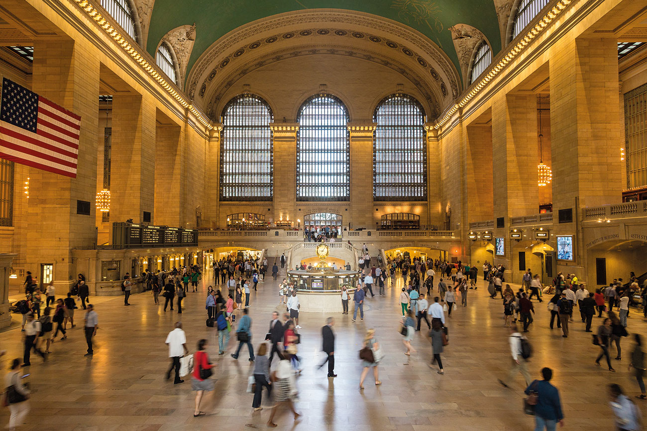 The renowned Main Concourse of New York City's Grand Central Terminal.