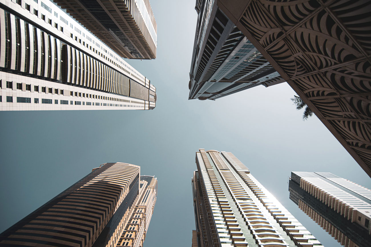 Typical Tall Buildings using stairwell pressurisation.