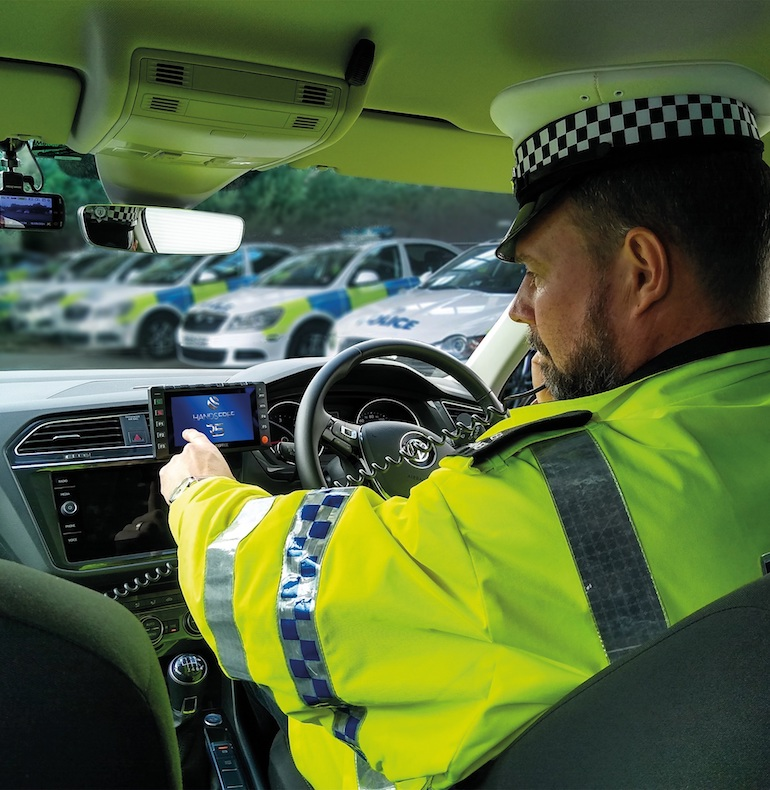 NEC Software Solutions and Handsfree Group have teamed up to develop a new technology platform that will enable police and other emergency services personnel to automatically receive actions, locations and other information from control rooms on a single screen within their vehicle. (NEC Software Solutions)